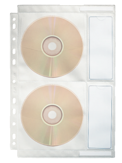File protectie CD A4, 10 buc/set Esselte