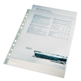 File protectie document cristal A4 100 buc/set 75 microni Esselte
