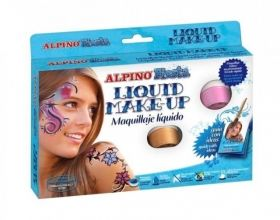 Make-up lichid, 8 culori x 10 gr, ALPINO Fiesta