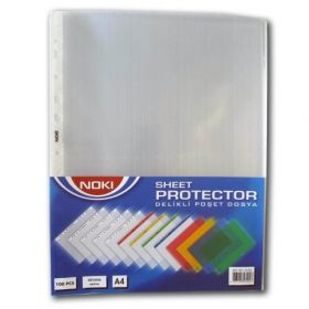 "File protectie document cristal A4 45 microni tip ""U"" Noki 100 buc/set"