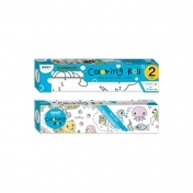 "Set role autoadezive pentru colorat, 315x3550mm + 140x2440mm, Stick""n - Furry Friends/Sea Life"