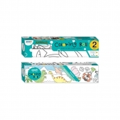 "Set role autoadezive pentru colorat, 315x3550mm + 140x2440mm, Stick""n - Dinosaurus/Insects"