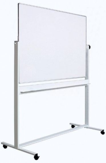 Whiteboard magnetic rotativ pe stand metalic cu 2 fete 100 x 180 cm Optima