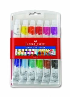 Tempera 12 culori/set 12 ml Faber Castell