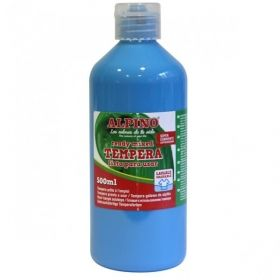 Tempera lavabila 500 ml Alpino - bleu