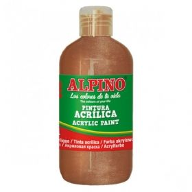 Tempera acrilica 250 ml, ALPINO - bronz metalizat