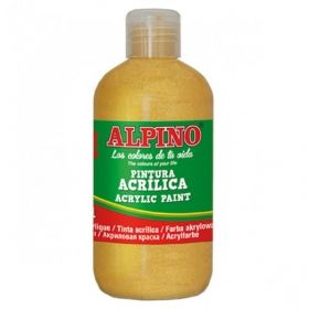 Tempera acrilica 250 ml, ALPINO - auriu metalizat