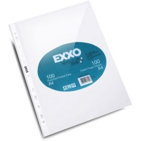 File protectie document A4 Exxo, 40 microni, 100 buc/set