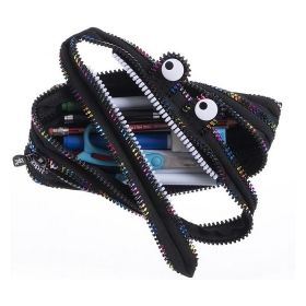 Penar cu fermoar, ZIP..IT Monster Special Edition - negru / fermoar multicolor