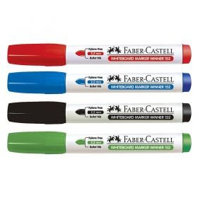Marker whiteboard Faber Castell Winner 152, 4 culori / set