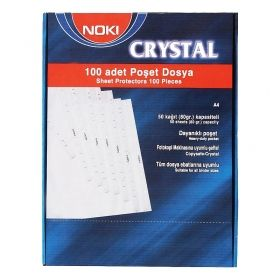 "File protectie document cristal A4 90 microni tip ""U"" Noki 100 buc/set"