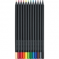 Creioane colorate 12 culori/set Black Edition Faber Castell